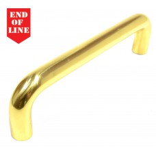 225mm x 22mm PB Pull Handle with Bolt Through Fix