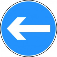 600mm dia. Dibond 'Horizonal Arrow' Road Sign (without channel)