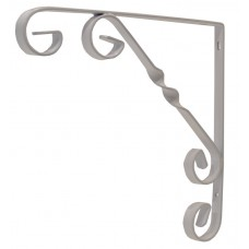 "200mm (8"") White Wrought Iron Scroll Bracket"