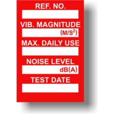 Vibration Control Mini Tag Insert - Red (Pack of 20)