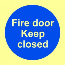 Fire door keep closed - PHO (100 x100mm)