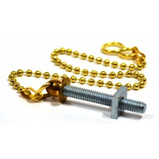 "12"" No 6 PB Sink/Basin Ball Chain with Stay"