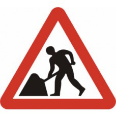 600mm tri. Dibond 'Men at Work' Road Sign (with channel)