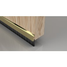 Concealed Brush Strip - 838mm - Polished Gold Effect Aluminium