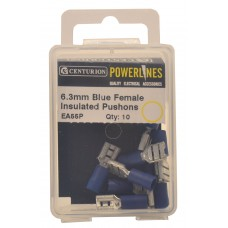 6.3mm Blue Female Insulated Push-ons (Pack of 10)