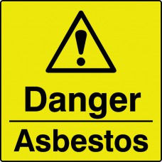 Danger asbestos - Labels (50 x 50mm Roll of 250)