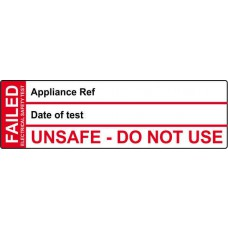 Fail Test Label - 250 Roll SAV (50 x 15mm)