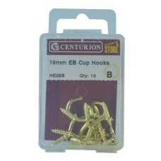 19mm EB Shouldered Cup Hooks (Pack of 10)