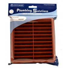 Louvred Grille with Flyscreen - Terracotta - 100mm