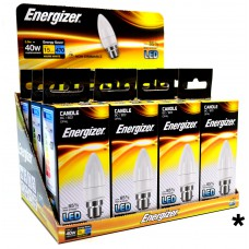 Energizer - LED Bulb - Candle 6W 470LM Opal B22 Warm White