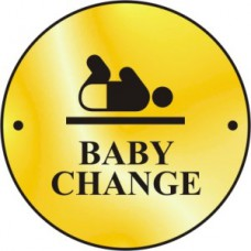 Baby change graphic door disc - PB (75mm dia.)