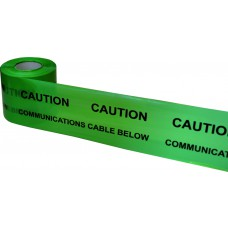 Underground Tape 150mm x 365mtrs Communications cable below