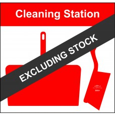 Shadowboard - Cleaning Station Style D (Red) With Hooks - NO STOCK