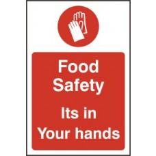 Food Safety Its in your hands - PVC (200 x 300mm)