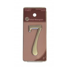 """2"""" Silver Effect Numeral 7"""