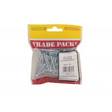 "1 1/2"" x 6 ZP Pozi Twinthread C/Sunk Woodscrews  Trade Packs (pack of 100)"