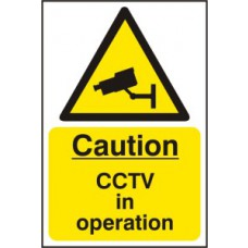 Caution CCTV in operation - RPVC (400 x 600mm)