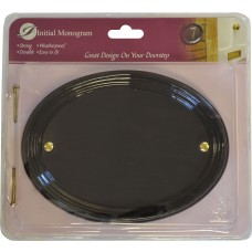 Medium Gloss Black Oval Plaque