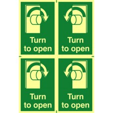 Turn to open - PHS (200 x 300mm)