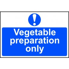 Vegetable preparation only - PVC (300 x 200mm)