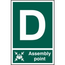 Assembly Point D - PVC (200 x 300mm)