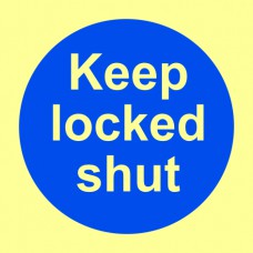 Keep locked shut - PHO  (100 x 100mm)