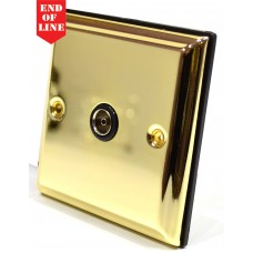 Victorian Brass Single Co Axial Socket