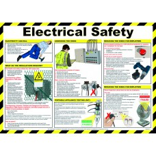 Safety Poster - Electrical safety - LAM 590 x 420mm