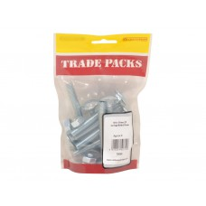 Carriage Bolts & Nuts Small - ZP - M10 x 75mm (9 PK)