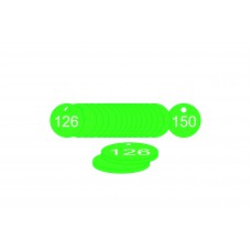 27mm dia. Traffolite Tags - Green (126 to 150)