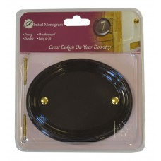 Small Gloss Black Oval Plaque