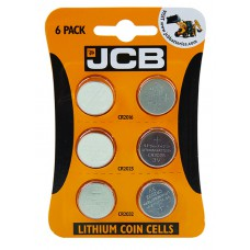 JCB - Batteries - Coin Cell Assorted x 6