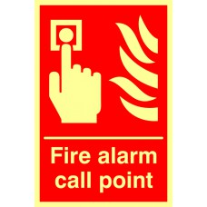 Fire alarm call point - Photolum. (200 x 300mm)