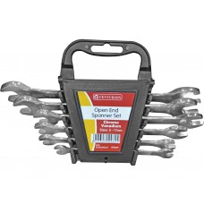 6 Piece 6-17mm Open End Spanner Set - Polished Head
