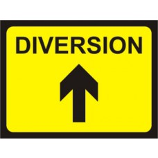 600 x 450mm Temporary Sign & Frame - Diversion (arrow up)