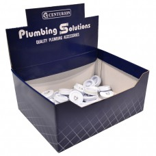 "Display Box Deal - 1 1/2"" White Sink Plugs"