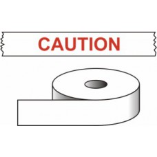 Caution - printed tape (50mm x 66m)Discontinued