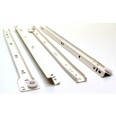 400mm White Bottom Fix Steel Drawer Runner