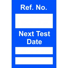 Next Test Mini Tag Insert - Blue (Pack of 20)