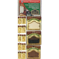 Small Starter Wall Unit - 3 Glass Effect Plaques Designs + 10 Gold Effect Numbers