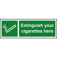 Extinguish your cigarettes here - SAV (300 x 100mm)