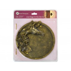 Bronze Effect Hummingbird Plaque