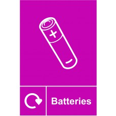 Recycling: Batteries - RPVC (150 x 200mm)