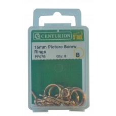 15mm Coppered Picture Screw Rings (Pack of 6)