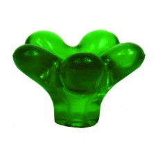35mm Green Plastic Flower Knob