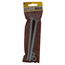 M10 x 150mm ZP Small Carriage Bolts & Nuts (Pack of 2)