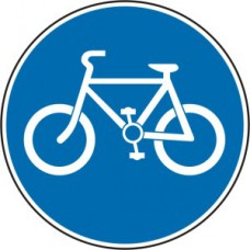 600mm dia. Dibond 'Cyclist's only' Road Sign (with channel)