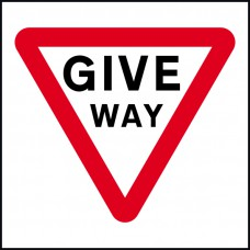 750 x 750mm Temporary Sign & Frame - Give Way
