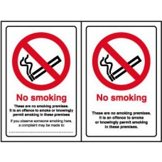 No smoking Double Sided - SA D/S (100 x 150mm)
