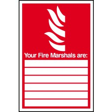 Fire marshals are:____ - RPVC (200 x 300mm)